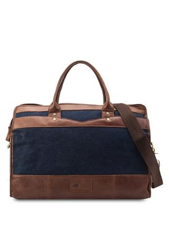 皮革帆布胸包, 包, zalora鞋行李袋