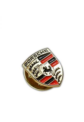 Porsche Driver's Selection gold Porsche Crest Button Pin 765C2ACED6FDF5GS_1