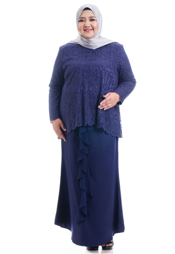 Ashura navy Harera Kurung With Drape Skirt Plus Size 5F4A0AA2476918GS_1