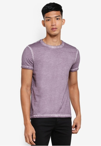 OVS purple Basic Faded T-Shirt 72C85AA000931FGS_1