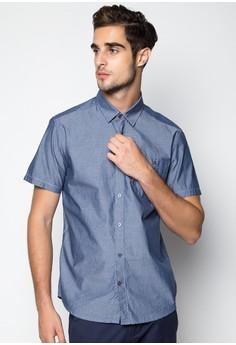 Casual Chambray Dobby Shortsleeved Shirt