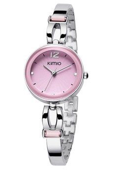 Stainless Lady Bracelet Watch with Clear Case