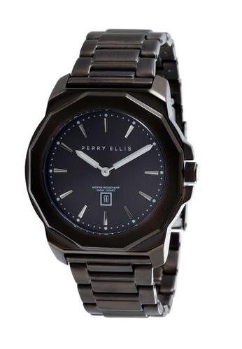 PERRY ELLIS black Perry Ellis Decagon Unisex 42mm Quartz Stainless Steel Watch 08007-02 CAA0BAC16E4016GS_1