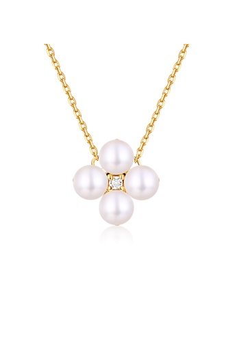 SUNSET gold Premium 18K Gold Pearl Necklace BCF86AC1C46239GS_1