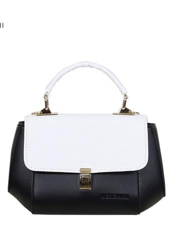 Verchini black Verchini Stone-Embellished Geometric Bag 0238DAC1D833CFGS_1