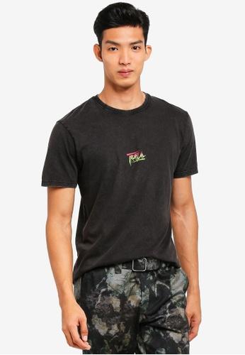 Topman black Black Tropical T-Shirt 2DB23AABA0B2BFGS_1
