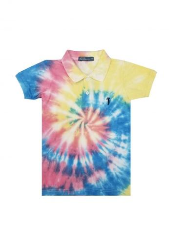 BOSSINI KIDS multi TieDye Polo Shirt B4A81KA8B6A165GS_1