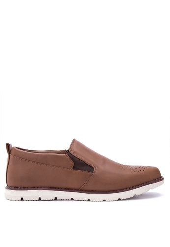 H2Ocean brown Qymat Smart Casual Shoes H2527SH0IQZXPH_1