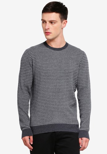 MANGO Man grey Structured Cotton Sweater 85875AAE590A6BGS_1
