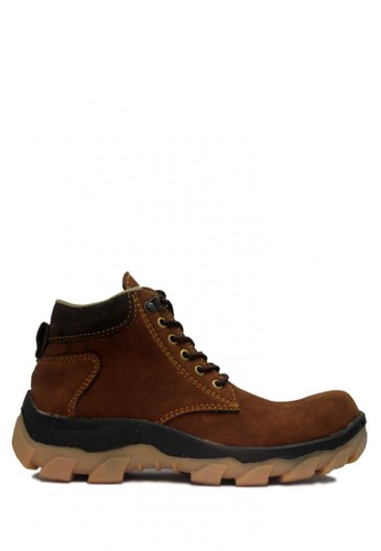 D-Island brown D-Island Shoes Safety Boots Radial Rider Suede Leather Brown DI594SH02ABXID_1