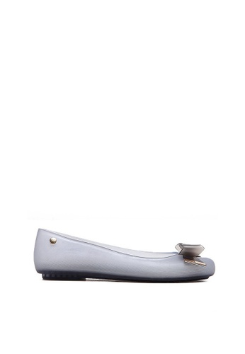 Halo blue Summer Bow Waterproof Flats Shoes HA156SH68HXFHK_1
