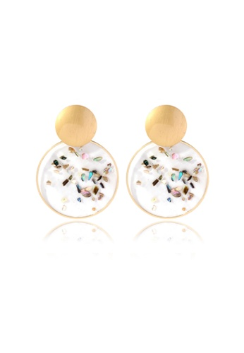 Kings Collection gold Shell Alloy earrings (KJEA20071) 9975AAC4BD5E90GS_1