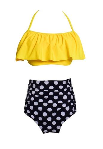 Twenty Eight Shoes yellow VANSA Ruffle Bikini Parent-child Swimsuit VCW-Sw01801A FB865US5D54B31GS_1