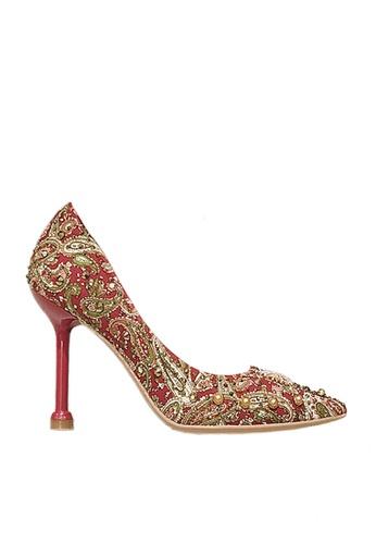 Twenty Eight Shoes 紅色 9cm 印花閃石晚裝及新娘鞋 VP16 62021SH72112D2GS_1