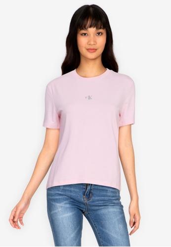 Calvin Klein multi Calvin Klein Jeans Short Sleeve Silver Logo TShirt 2AFF0AA73AC513GS_1
