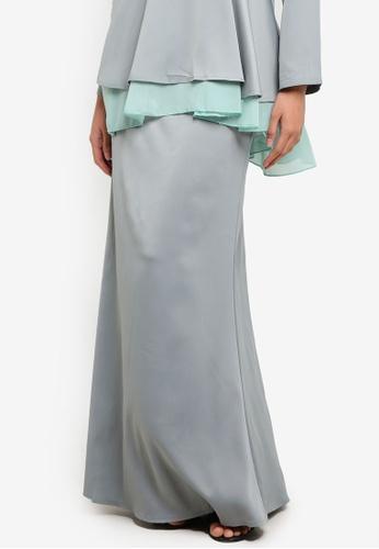 BYN green Mermaid Style Skirt BY059AA11VLKMY_1