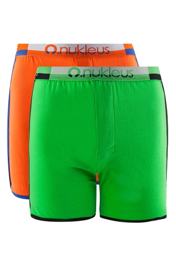Nukleus orange and green The Gift Of Nature (Boxers) NU951US95MIQMY_1