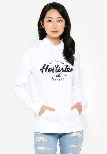 Hollister white Tech Core Popover Hoodie B06ECAADEF994CGS_1