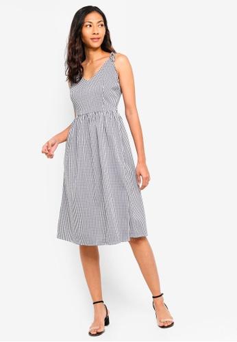 Basic Tie Shoulder Midi Dress