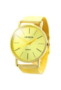 Geneva Elaine Stainless Steel Watch BUS077 (Gold)