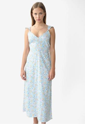 PIMKIE blue Straight Maxi Dress CFDB3AA943FBB7GS_1