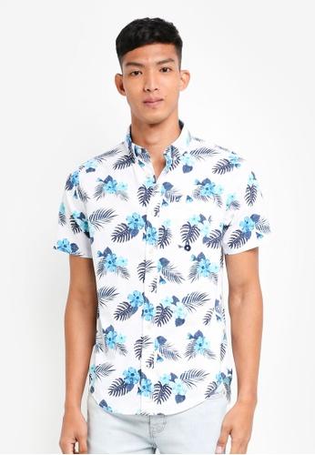 Hollister 白色 Short Sleeve Floral Shirt D495EAA211D8B8GS_1