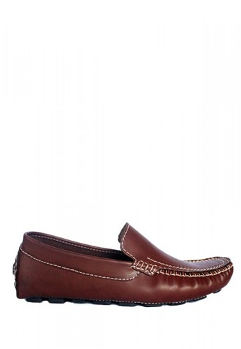D-Island brown D-Island Shoes Slip On Moccasin Office Leather Brown 1D0E5SH795F63AGS_1