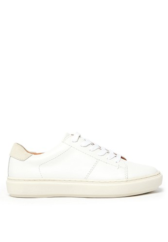 MARKS & SPENCER white Leather Lace Up Trainers 7FD49SHC04850CGS_1