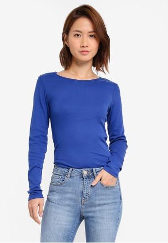 Dorothy Perkins blue Long Sleeve Tee DO816AA0SSZUMY_1