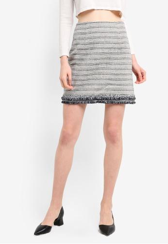 ZALORA multi Tweed Mini Skirt Co-Ord E57D1AAD6B9BA4GS_1