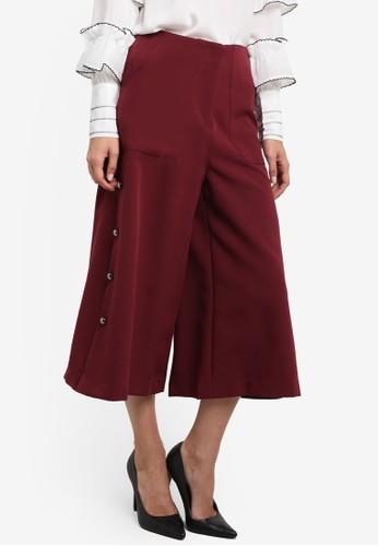 金屬鈕七分寬褲, 服esprit 尖沙咀飾, 長褲及內搭褲