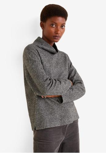 MANGO grey Funnel Neck Sweater F3FCBAAF1B9938GS_1