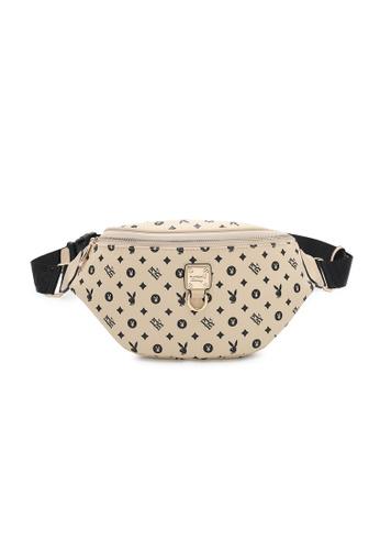 PLAYBOY BUNNY beige Women's Waist Bag / Waist Pouch / Belt Bag 621C0AC3C1A733GS_1