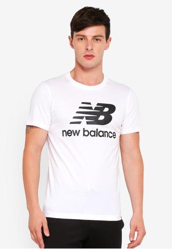 New Balance 白色 休閒印花T恤 7795FAA81E478AGS_1