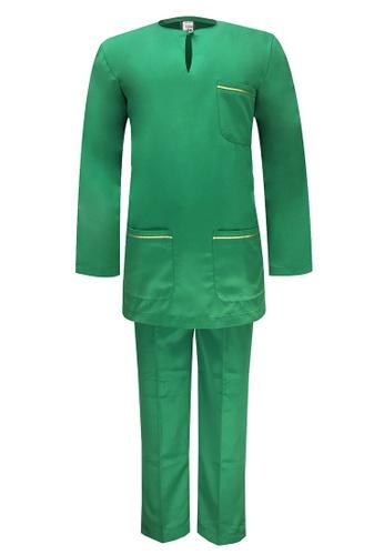 Pacolino green Baju Melayu Teluk Belanga with pants For Baby - BM37015 (Green) 1D5E0KA30B222EGS_1