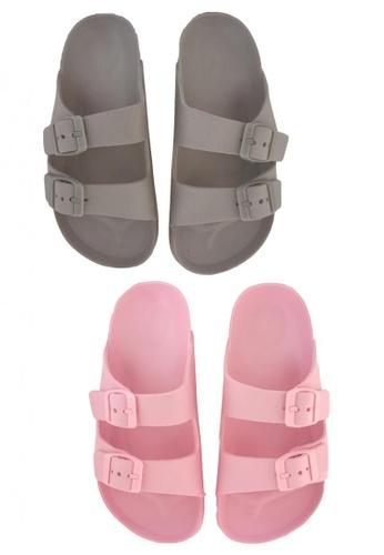 Pineapple grey and pink Kids' Classic Slip-ons 87577KSE9AEEE7GS_1
