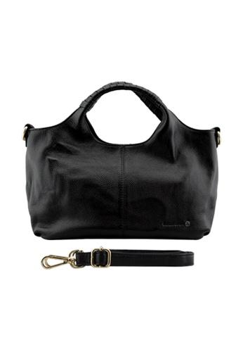 EXTREME black Extreme Genuine Leather Semi Hobo Bag DF679AC6CB3BCBGS_1
