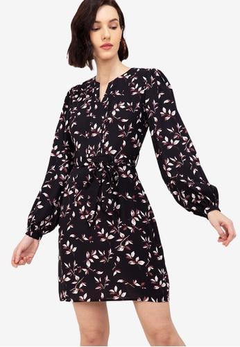 ZALORA WORK multi Notch Neck Puff Sleeves Dress 9AA3AAA7493720GS_1