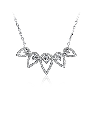 Glamorousky white 925 Sterling Silver Sparkling Fashion Romantic Elegant Exquisit Water Drop Shape Necklace with Cubic Zircon C91A9AC963251AGS_1