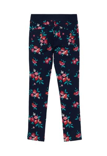 Du Pareil Au Même (DPAM) navy Floral Print Pants 7DCFBKA4821B7DGS_1