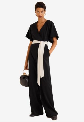 b0592ec9c63 Buy Mango Bow Detail Jumpsuit Online on ZALORA Singapore