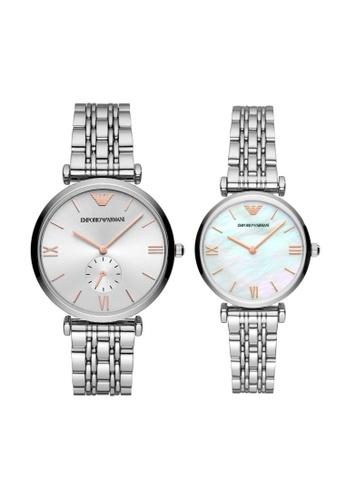 Emporio Armani silver Watch Set AR90004 B487EACDDF2CABGS_1
