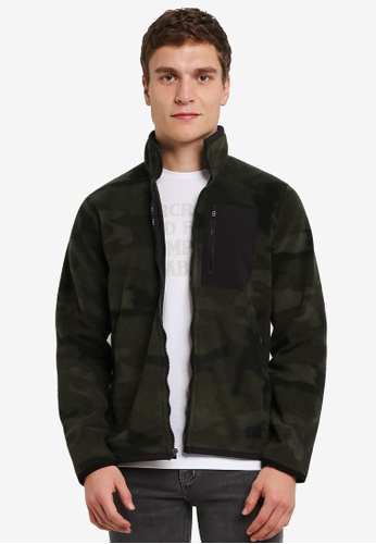 Abercrombie & Fitch green and multi Sporty Zip Jacket AB423AA0S3ADMY_1