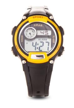 Kid's Black/Yellow Digital Waterproof Sports Watch XJ-859