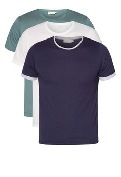 Basic Bundle Crew Neck With Contrast (3 In 1)