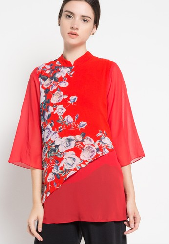 Brilliant Girl red Blouse Kembang BR343AA83MBCID_1
