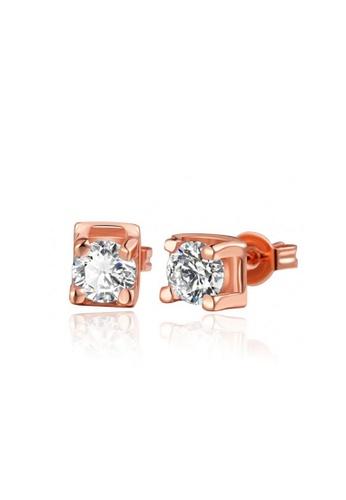 Sopistikada gold Roxanne Rose Gold Plated Earrings SO776AC78OQNPH_1