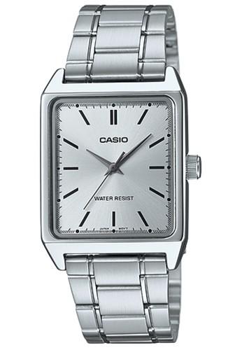 Casio silver Casio Analog Jam Tangan Pria - Silver - Strap Rantai - MTP -V007D e443d3da29