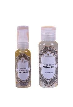 Pure Organic Moroccan Argan Oil 60ml (Elite) with Moroccan Argan Oil Hair Serum 60ml (Elite) Bundle