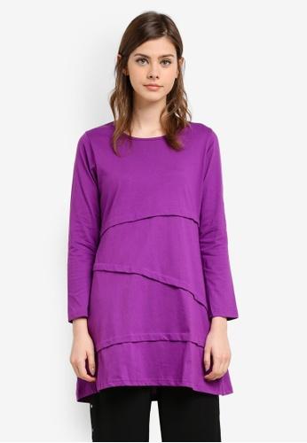 Wafiyya by Dollscarf purple Tulip Blouse WA375AA0S75ZMY_1